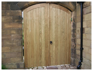 Bespoke oak gates