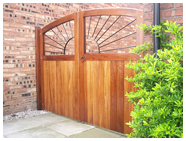 Double Sunray decorative iron gate